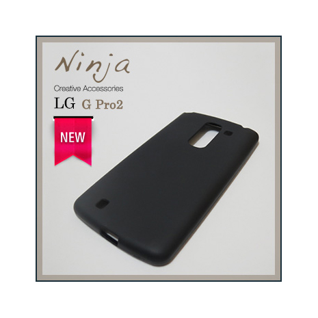 【東京御用Ninja】LG G Pro2磨砂TPU清水保護套(黑色)