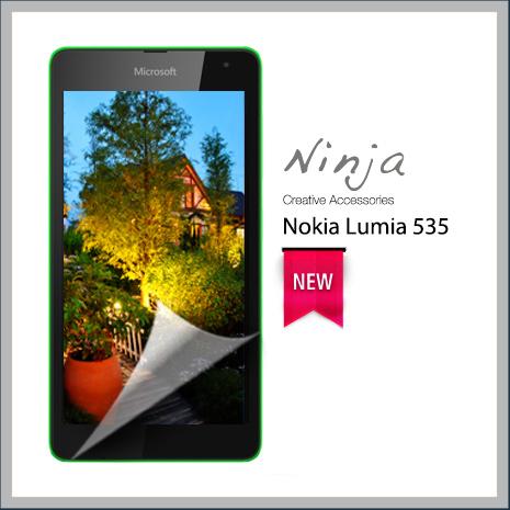 【東京御用Ninja】NOKIA Lumia 535專用高透防刮無痕螢幕保護貼-手機平板配件-myfone購物