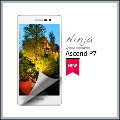 【東京御用Ninja】HUAWEI Ascend P7專用高透防刮無痕螢幕保護貼