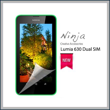 【東京御用Ninja】Nokia Lumia 630 Dual SIM專用高透防刮無痕螢幕保護貼