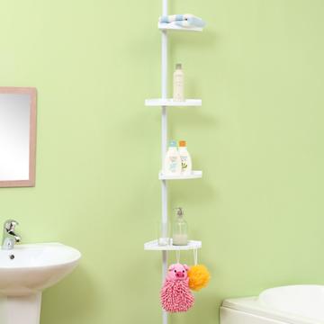 【方陣收納MatrixBox】頂天立地雪白烤漆衛浴置物架1入