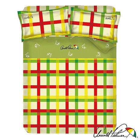 【Arnold Palmer雨傘牌】田園交響曲-40紗精梳純棉床包被套雙人四件組