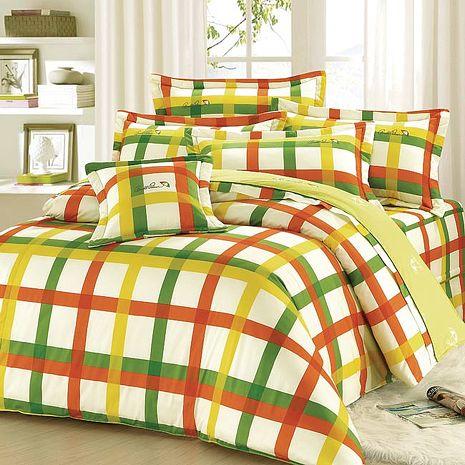 【Arnold Palmer雨傘牌】田園交響曲-40紗精梳純棉床罩雙人加大七件組