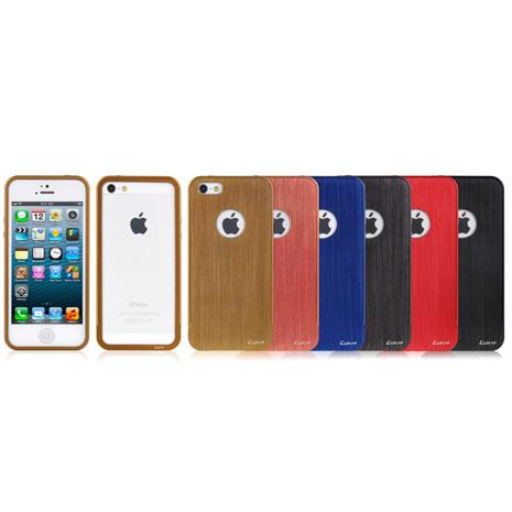 LUXA2 Alum Edge全鋁合金 iPhone 5/5S保護框-鈦色