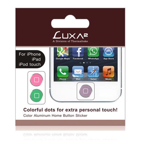 LUXA2 彩色鋁合金Home鍵貼紙 -紫/磚紅/綠