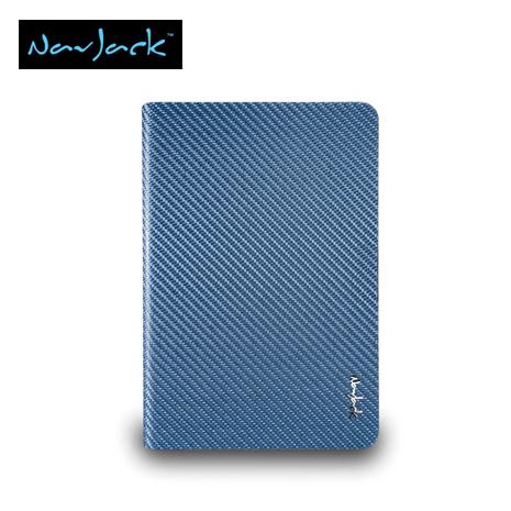 Navjack iPad mini玻纖多功能對開式保護套 天藍色