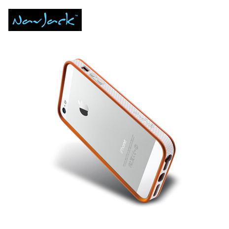 Navjack Trim Series iPhone5/5S保護框-香橙橘