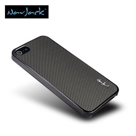Navjack iPhone5/5S Corium玻纖保護背蓋-深灰