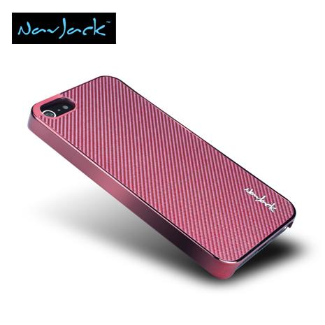 Navjack iPhone5/5S Corium玻纖保護背蓋-波斯紅