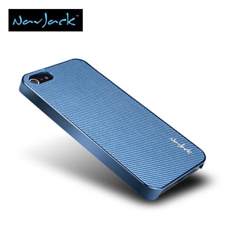Navjack iPhone5/5S Corium玻纖保護背蓋 (天空藍)