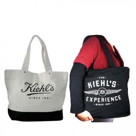 Kiehls 契爾氏 時尚托特包 (白,黑) 2擇1-美妝‧保養‧香氛‧精品-myfone購物