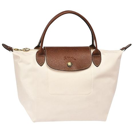 Longchamp 法國經典摺疊水餃包(S短把/米白色)