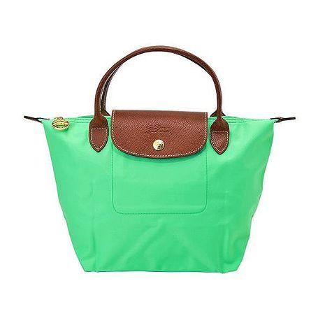 Longchamp Le Pilage法國經典摺疊水餃包(S短把/青蘋果綠)