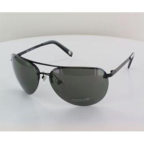 Michael Kors 男士時尚太陽眼鏡-黑框/黑色鏡面