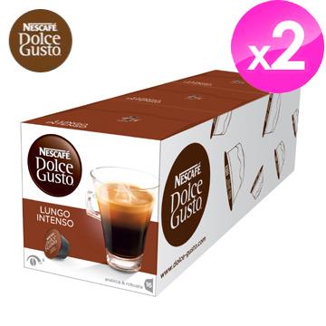 雀巢NESCAFE 美式濃黑濃烈咖啡膠囊 (Lungo Intenso)【3盒X2條組】