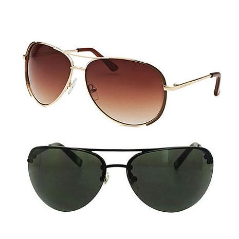 Michael Kors 時尚飛官款 雷朋太陽眼鏡 (2色擇1) 黑色/咖啡色