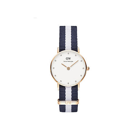 【公司貨】Daniel Wellington DW 瑞典簡約風格 26mm/Swarovski/水晶/尼龍 DW00100066