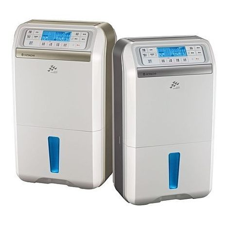 HITACHI日立10公升FUZZY感溫適濕負離子清淨除濕機 RD-200DS/RD-200DR (晶鑽銀/香檳金)晶鑽銀
