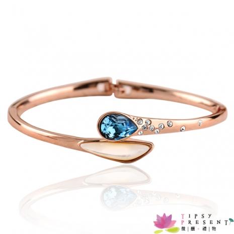 手環 施華洛stullex星眸水鑽 仿貝材質 美人魚的收藏品 時尚優雅款 兩色 手環 微醺。禮物湖水藍