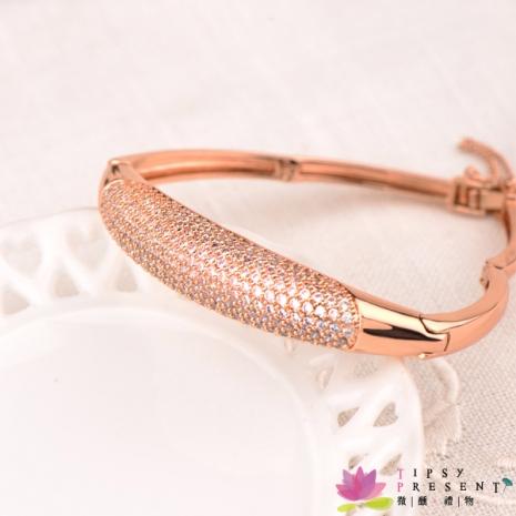 手環 合金鍍K金 頂級鋯石 尊貴滿鑽鑲嵌 絕美尊榮 微醺 禮物