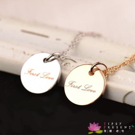 項鍊 合金鍍K(白)金 Frist Love 初戀 項鍊 微醺 禮物