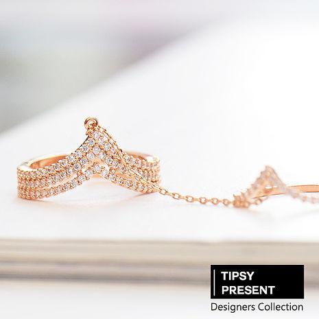 戒指 頂級鋯石 合金鍍K金 完美女神 超細緻 戒指 微醺 禮物#6