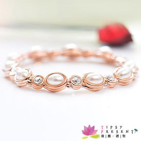 手鍊 人造珍珠 高級水鑽 奢華珍珠風 手鍊