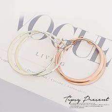 耳環 鍍16K金 簡約 圓形 耳環 兩色 微醺
