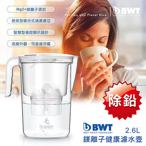 【BWT德國倍世】Yara 2.6L 鎂離子健康濾水壺兩入組 (特賣)