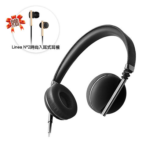 【美國CAEDEN】 經典耳罩式耳機CAE10107(黑)加贈入耳式耳機(黑)CAE20100 特賣