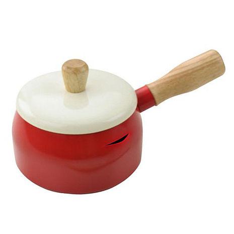 【小太陽】14cm多用途巧克力牛奶鍋/紅色/FP-394D