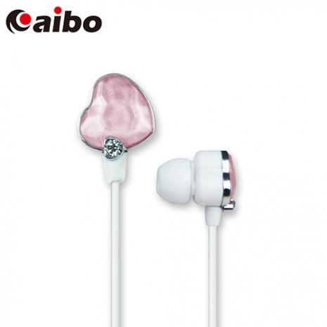 aibo ECHO 繽紛時尚鑽石耳機(愛心版)-粉紅