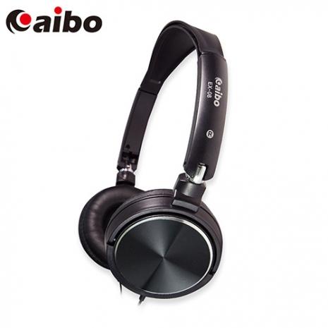 aibo EX-08 金屬可折式耳機麥克風-黑色