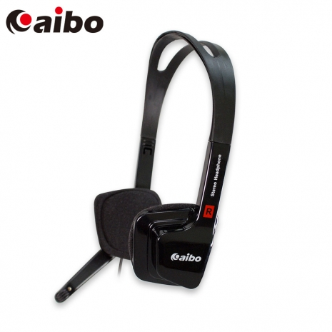 aibo YL-555 方型立體耳機麥克風 - 黑色