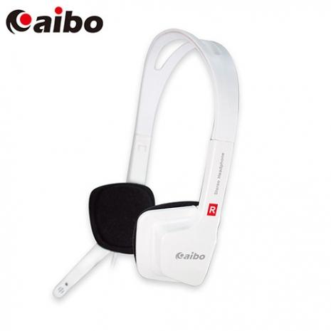 aibo YL-555 方型立體耳機麥克風 - 白色