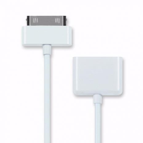 iPhone/iPad 專用傳輸充電延長線(公對母)無法支援影像 - 白色