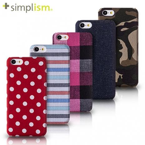 Simplism iPhone 5C 專用布面保護殼組深綠迷彩