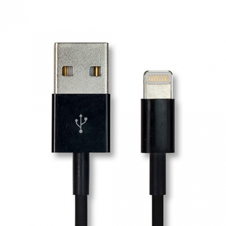 iPhone 5 / iPad mini 專用 Lightning to USB 充電傳輸線 (10cm) - 黑色