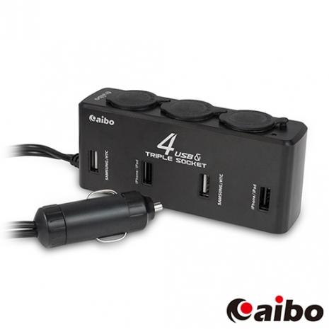 aibo AB435 車用USB點煙器擴充座(四USB埠+三點煙器+80cm延長線)