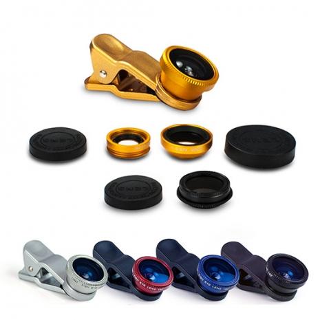 偏光/魚眼/廣角/微距 四合一通用型夾式鏡頭金