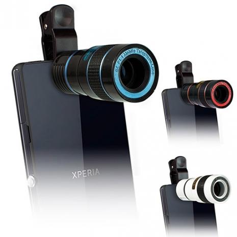 8倍 光學砲筒型 手機/平版萬用 夾式望遠鏡頭