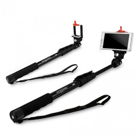 (APP搶購)C188 數位相機/手機兩用 四節易攜式360度伸縮自拍架(扳壓關節)