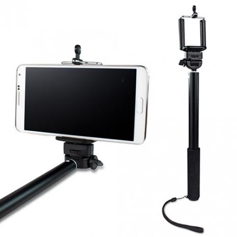 TFT01 數位相機/手機兩用 四節伸縮360度旋轉自拍架-黑色