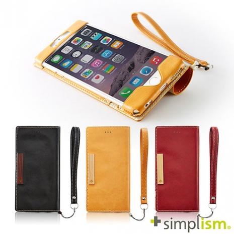 【福利品特賣】Simplism iPhone 6 Plus 超輕量側掀皮革保護套-手機平板配件-myfone購物