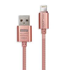 USB 2.0 轉 Apple 8Pin 太空鋁系列網狀編織充電傳輸線^(1M^)~玫瑰金