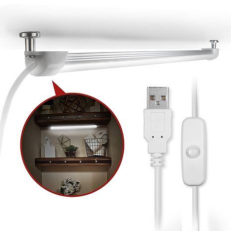 USB 線控開關式 磁吸式超薄型LED燈管
