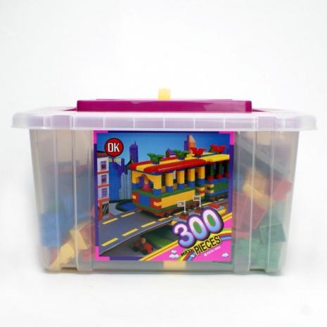 【OK積木】大型收納箱系列/大顆粒300入裝