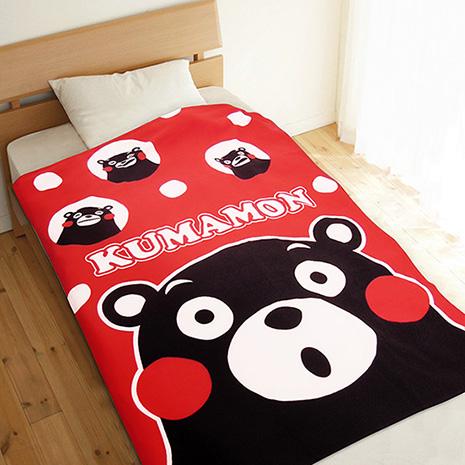 (門市活動)【享夢城堡】KUMAMON熊本熊 心情圈圈圈 攜帶式刷毛毯