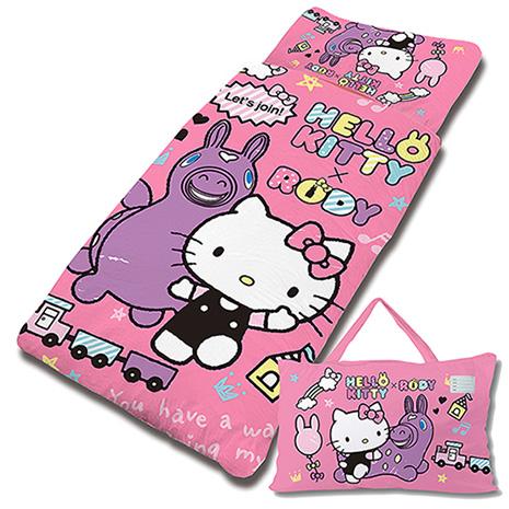 【享夢城堡】HELLO KITTY x RODY 歡樂時光系列-鋪棉兩用兒童睡袋(粉)