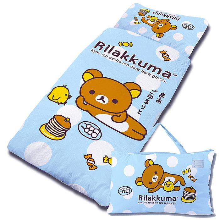 【享夢城堡】Rilakkuma拉拉熊 小憩片刻系列-兒童睡袋